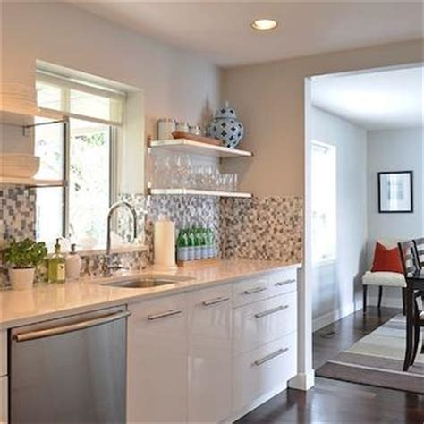 Kitchen Backsplash Ideas With Black Granite Countertops - blue and gray mosaic kitchen tiles contemporary home exterior