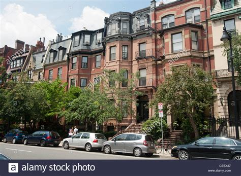 Heritage Residential Rowhouses On Beacon Street, Back Bay