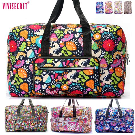 Women Large Capacity Foldable Travel Luggage Carry on Tote ...