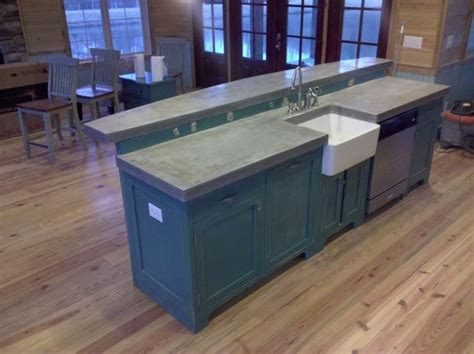 cast  place concrete countertops traditional kitchen birmingham   concrete