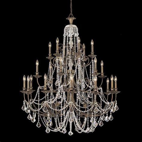 crystorama regis 24 light spectra bronze chandelier