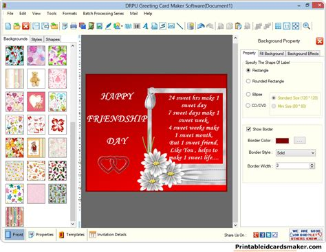 Greeting Cards Maker Software Screenshots Of How To Design