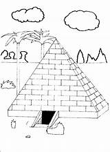 Pyramid Coloring Farm Template Shoe sketch template