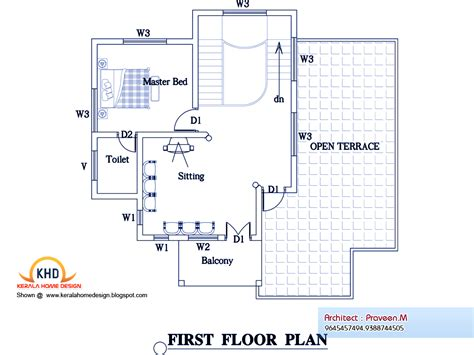 3 Bedroom Home Plan And Elevation  Kerala Home Design And