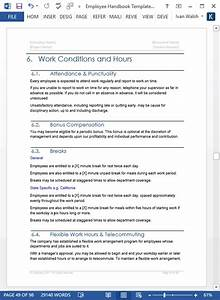 employee handbook template ms word 140 sample topics With personnel manual template