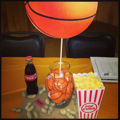 basketball table  sports theme baby shower