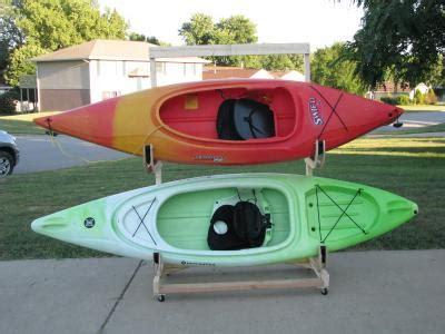 how to make a kayak rack kayak storage rack korey atterberry s idle chatter