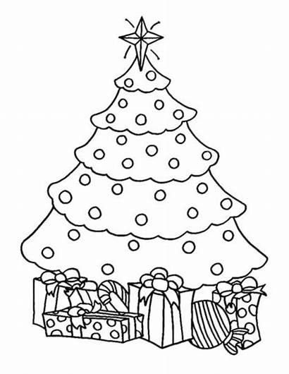 Tree Coloring Christmas Presents Pages Trees Gifts