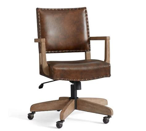 Office Chairs Pottery Barn by Manchester Leather Swivel Desk Chair Pottery Barn