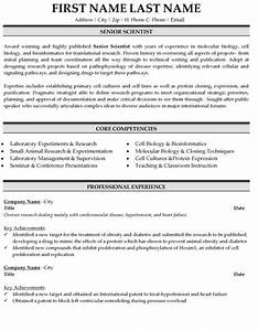 senior scientist resume sample template With scientific resume writing services