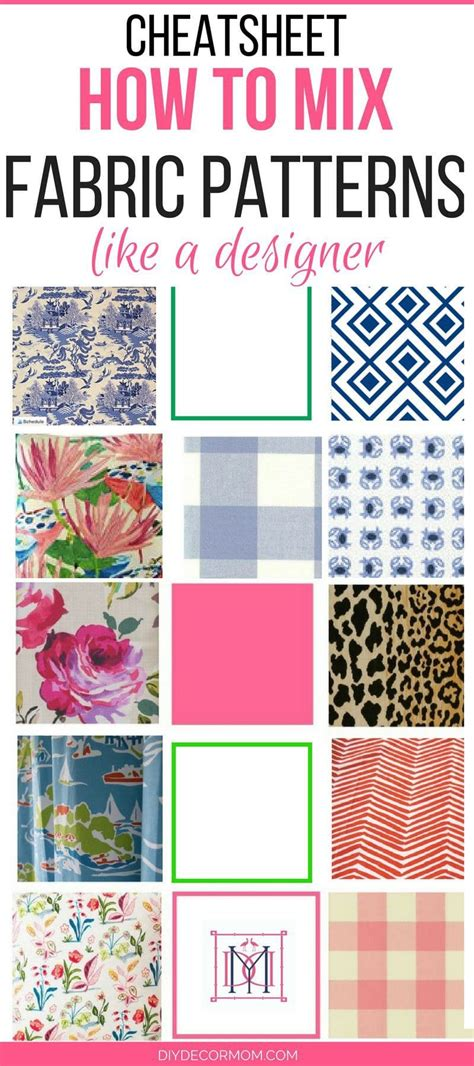 How To Make Upholstery Patterns by Mixing Fabric Patterns Designer Secrets Diy Decor
