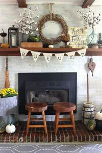excellent rustic mantel decoration ideas 25 DIY Fall Decor Ideas With Rustic Elements | Home Design And Interior