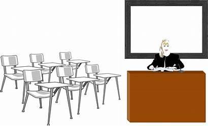 Classroom Clipart Teacher Transparent Student Learning Svg