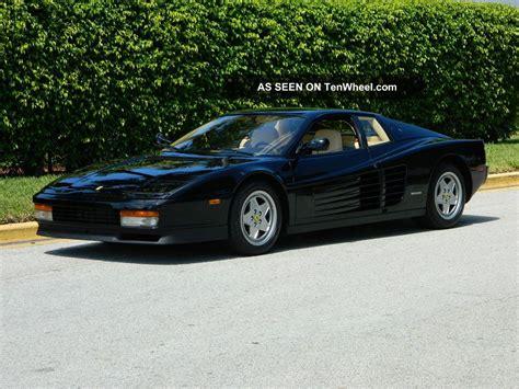 Black Testarossa by 1990 Testarossa Nero Black Crema Belts And Clutch