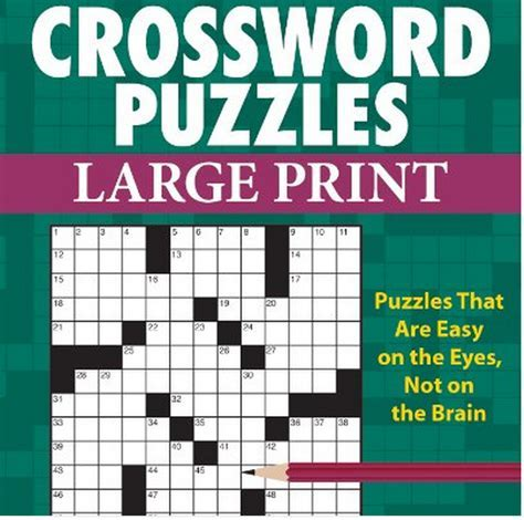 Large Print Crossword Books   Good Gifts For Senior Citizens