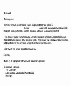 Sample Layoff Letter Termination Letter Format Templates Free Premium Templates