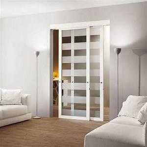 Porte Coulissante Vitree : porte interieur en verre infos et conseils ~ Dode.kayakingforconservation.com Idées de Décoration