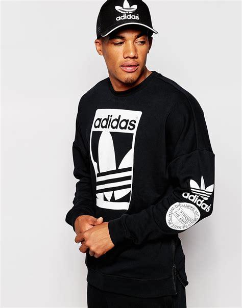 Adidas originals Graphics Sweatshirt Ab8028 in Black for Men | Lyst