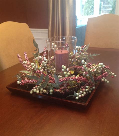 I also love using votive candle holders! table centerpiece | Table centerpieces for home, Dining ...