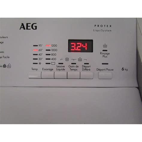 test aeg l61261tl lave linge ufc que choisir