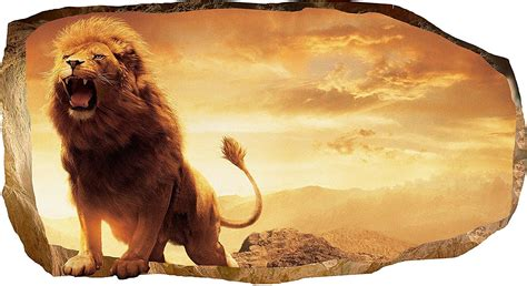 powerful captivating  majestic lion wall art animal