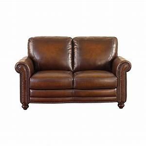 hamilton leather loveseat by bassett furniture bassett With leather sectional sofa bassett