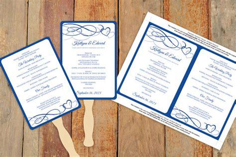 diy wedding program fans template diy wedding fan program template download by karmakweddings