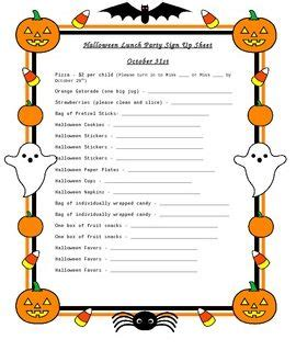 sign up sheets for preschool festival 740 | Halloween Sign Up Sheet Preschool Party 01 270x330