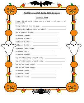 sign up sheets for preschool festival 779 | Halloween Sign Up Sheet Preschool Party 01 270x330
