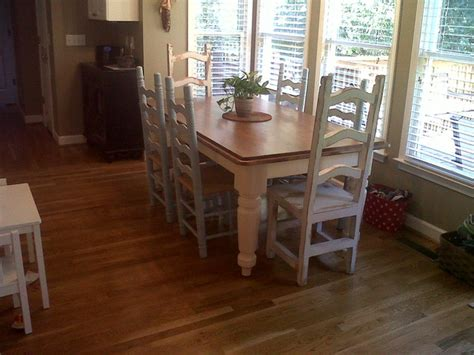 A Shabby Chic Farmhouse Table With Diy Chalk Paint
