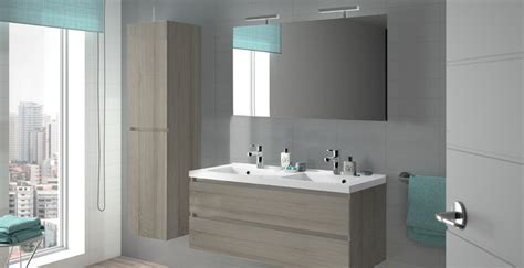 meuble salle de bain bois design contemporain allibert