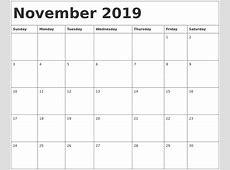 November 2019 Calendar Template 2018 calendar with holidays