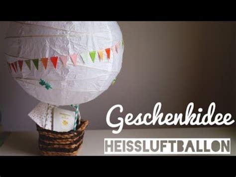 diy hochzeitsgeschenk heissluftballon diy inspiration