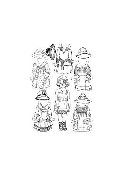 Doll Paper Dolls Printable Coloring Fun Dresses