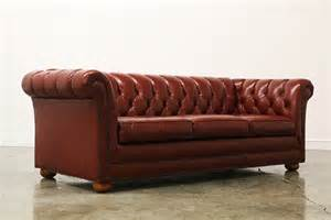 Vintage Tufted Leather Chesterfield Sofa