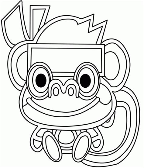 Cute Monster Coloring Pages Coloring Home