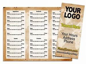 Restaurant menu printing palmetto bradenton sarasota for Free restaurant menu templates for mac