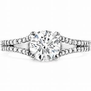 Felicity split shank diamond engagement ring for Split shank engagement ring with wedding band