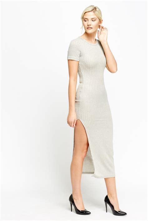 Metallic Slit Side Maxi Dress   Just £5