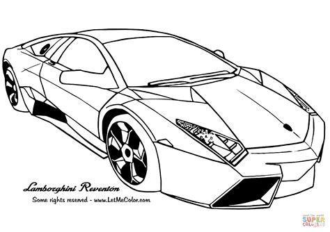 Lamborghini Reventon Coloring Page