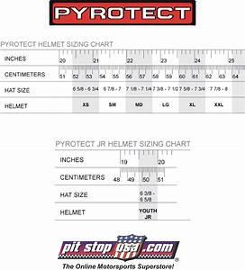 Sizing Chart  Pyrotect Auto Racing Helmets