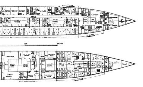 titanic deck plans d titanic plans