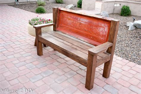 truck tailgate bench rustic tailgate bench tutorial addicted 2 diy