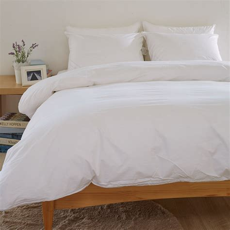 White Comforter Cover by White Duvet Comforter Cover 100 Cotton Feather