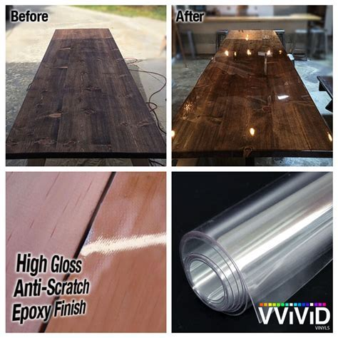 VViViD High Gloss Clear Epoxy Pre Laminate Scratch