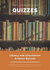 LIBRARIANSHIP STUDIES & INFORMATION TECHNOLOGY: Library ...
