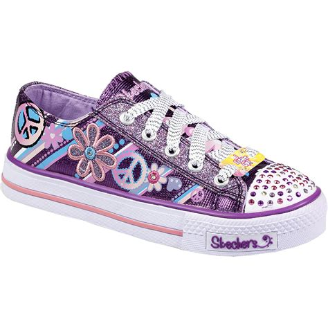 girls light up sandals kids girls skechers velcro lace up twinkle toes light up