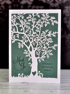 tree laser cut wedding invitation With laser cut wedding invitations tree uk