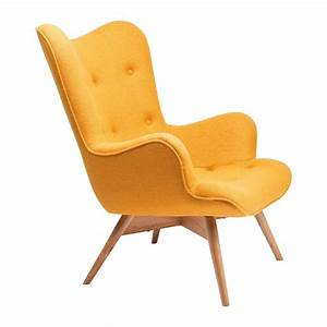 Fauteuil scandinave jaune angels wings kare design for Fauteuil jaune design