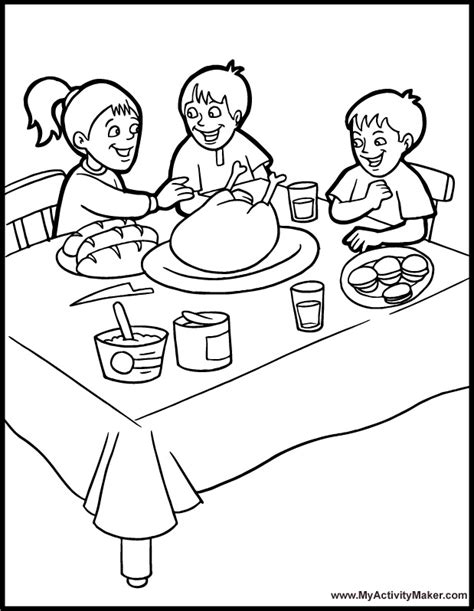 dining room coloring pages   print
